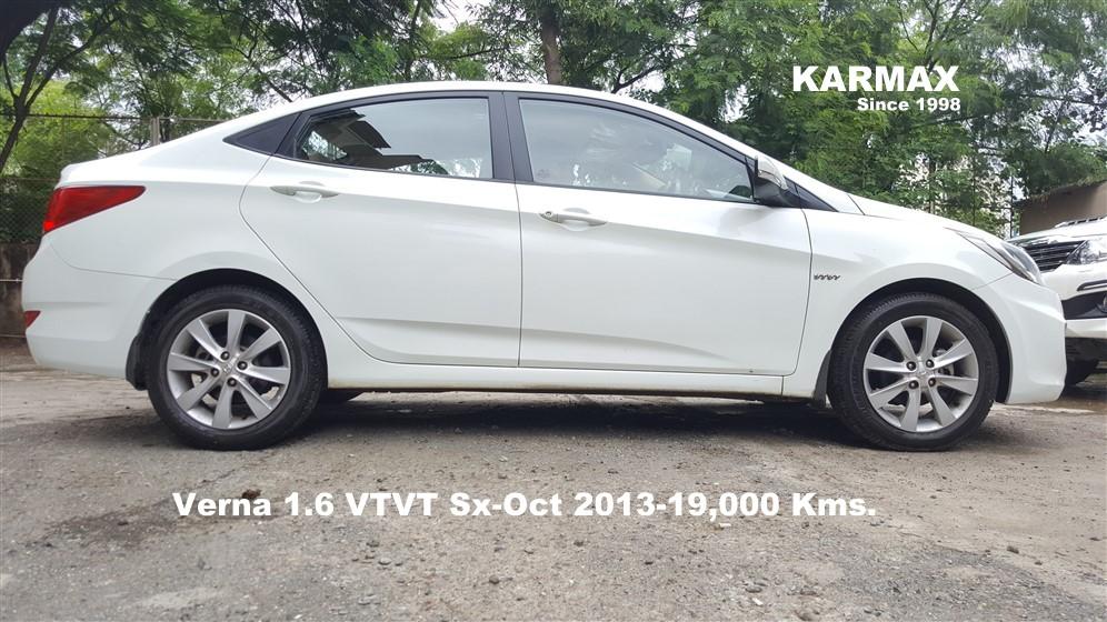 Hyundai Verna 1 6 Sx Vtvt C White 2013 18 000 Kms Karmax
