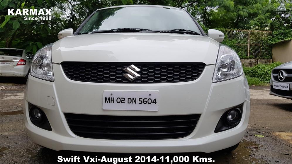 Maruti Suzuki Swift Vxi P A White August 2014 11 000 Kms Karmax