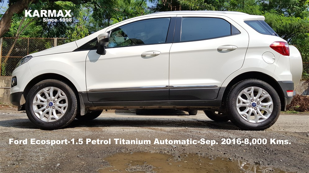 Ford Ecosport   Petrol Titanium Automatic Diamond White Sep   Kms Karmax