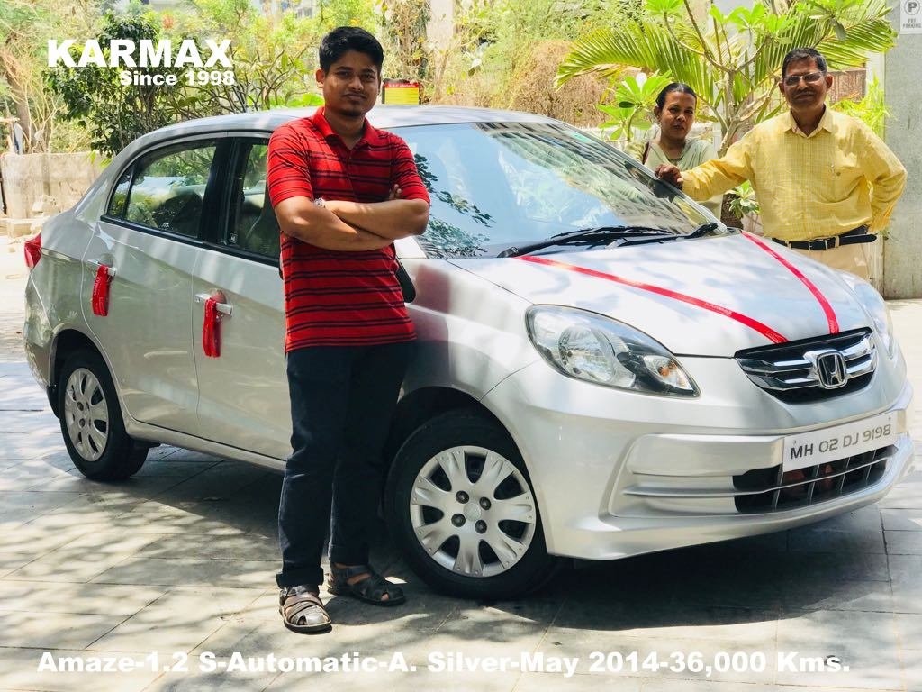 Honda Amaze 1 2 S Automatic Abs Silver May 2017 36 000 Kms